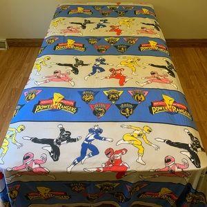 Power Ranger Bedding Vintage Mighty Morphin Power Rangers Flat Sheet Poshmark